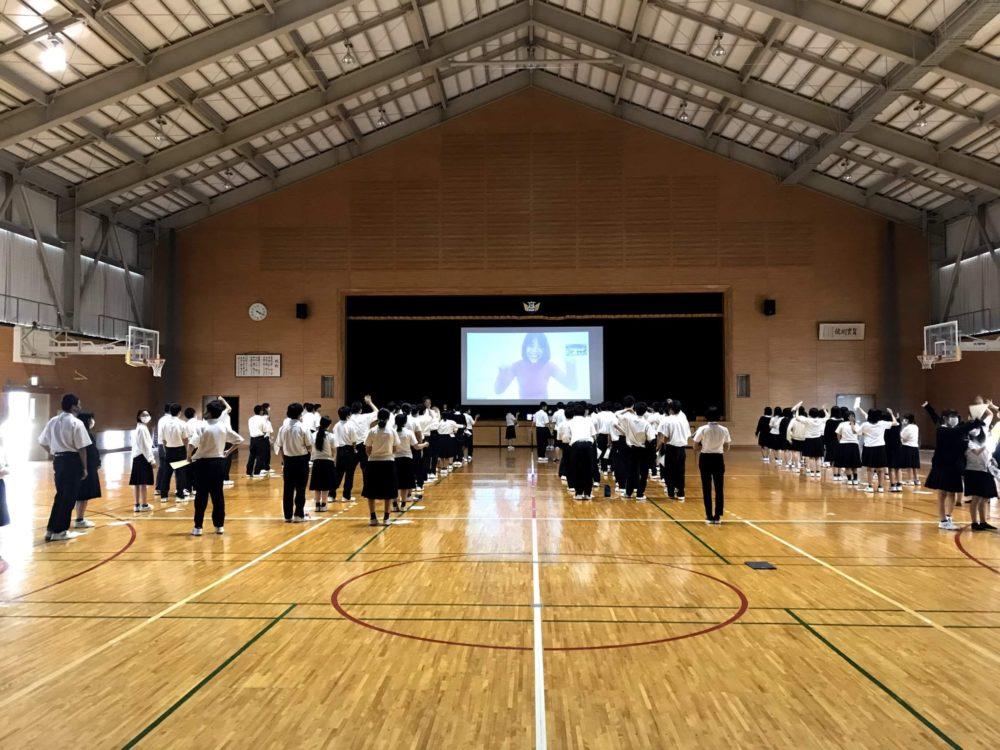 広島県立庄原実業高校1年生約100名に実施したオンライン授業